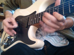 Playing my stratocaster