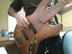 Playig bass